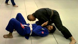BJJ Breakdown: How to Do the Baseball Bat Lapel Choke from Top Cross Side