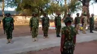 Military Parade in Hausa language