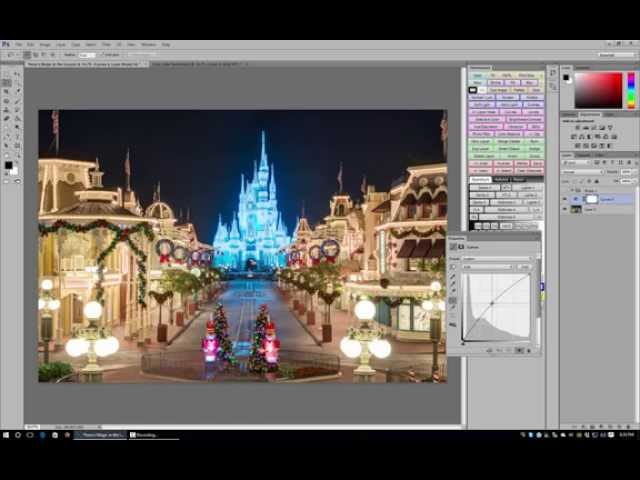 Curves Adjustment in Photoshop - Walt Disney World Photo Editing