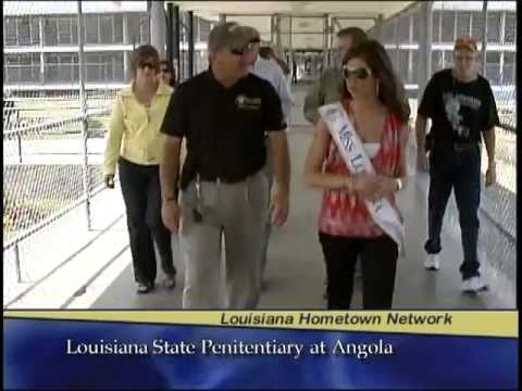 Miss Louisiana visits Louisiana State Penitentiary at Angola