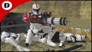 CLONE GUNNER MENTAL HOLDS THE TUNNEL! - Star Wars: Daley Squad Origins 2