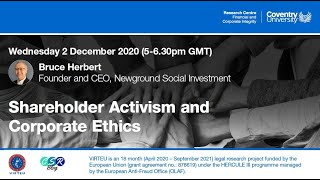 CSR Seminar - Bruce Herbert - Shareholder Activism