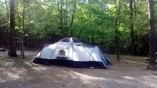Tent Camping with Cats: Morrow Mountain State Park, North Carolina