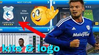 How To Create Cardiff City Team Kits & Logo 2019 | Dream League Soccer 2019