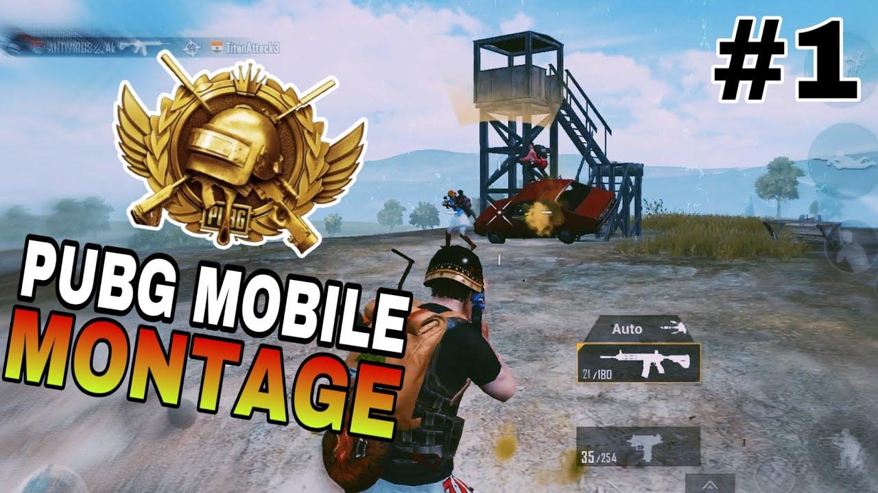 Pubg Mobile Montage | 4 Finger + Gyro ipad mini 5 | Highlights #1