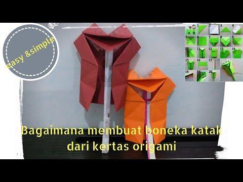 Tutorial Origami Mudah Simple Boneka Katak Youtube