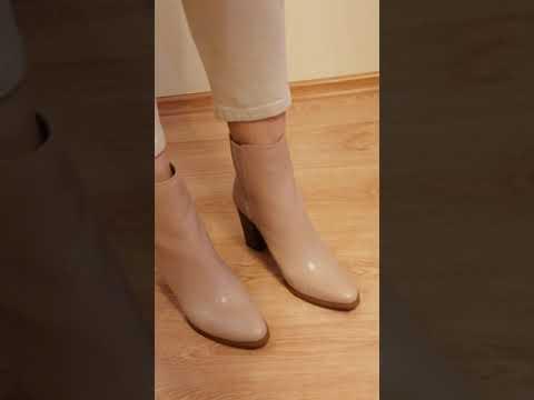 ботинки из кожи полусапожки челси Nine West