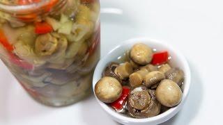 Маринованные Грибы Шампиньоны: быстрый простой рецепт