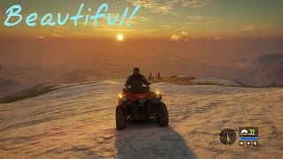 The Hunter: Call of The Wild: Top of The Mountain! Driving ATV at snowcap area.