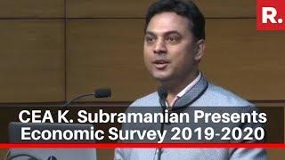 Chief Economic Advisor Krishnamurthy Subramanian Presents Economic Survey 2019-20