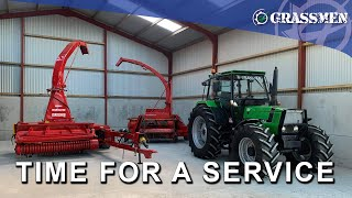 SERVICE DAY @ GRASSMEN HQ - VOLKSWAGEN AMAROK, HARVESTERS AND MORE  - DONKEYCAM