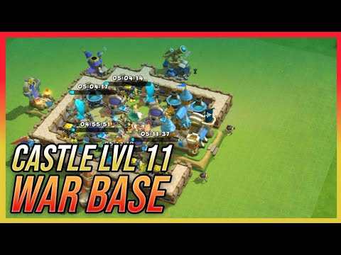 Castle Lvl 11 War Base | Best Defense Strategy | Castle Clash : New Dawn (Layout)