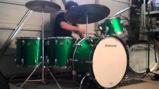 Led Zeppelin - The Ocean - Drum Cover - Ludwig Early 70's 3-Ply Vintage Green Sparkle Drum Kit