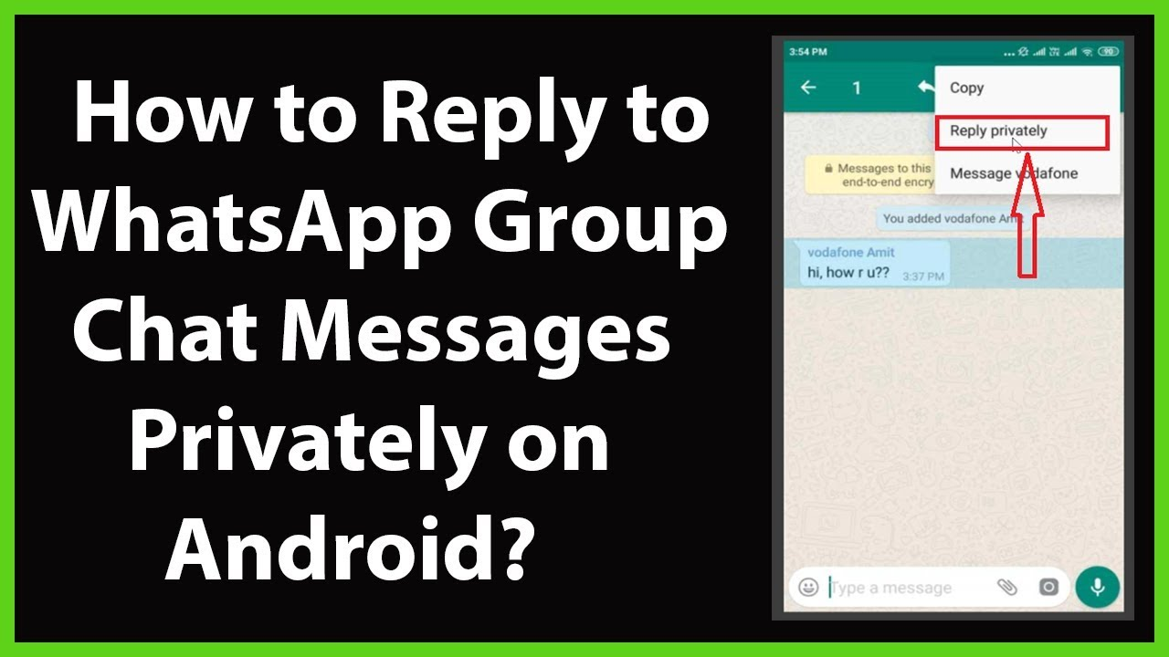 How to Reply to WhatsApp Group Chat Messages Privately on ...