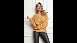 Красивый Вязаный Пуловер Спицами - 2019 / Beautiful Knitted Pullover Knitting