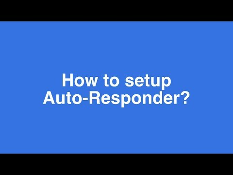 How To Use Auto-Responder For Live Chat ?