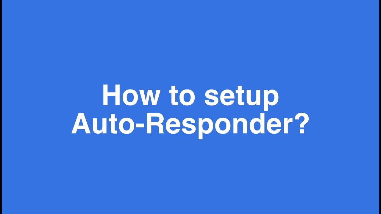 How to use the Auto-Responder plugin? | Crisp Helpdesk