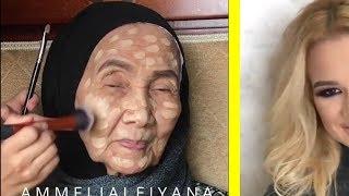Yaşlı Bir Kadın Makyaj Yaptı ve Ne Hale Geldi. Evlenmeden Önce Dikkat Edin