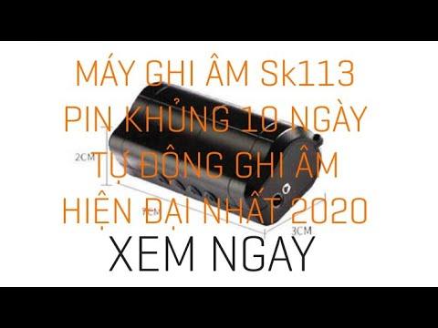 Máy Ghi âm SK113 Pin Khủng 10 Ngày - Thiết Bị Ghi âm - Máy Ghi âm Bí Mật SK113 - Máy Ghi âm Mini