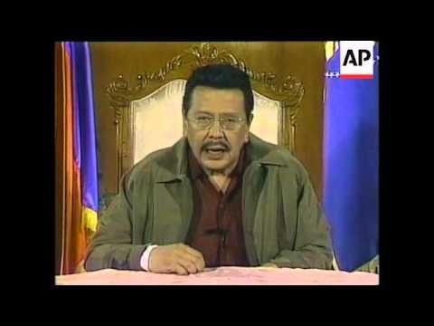 PHILIPPINES: ANTI ESTRADA PROTESTS WRAP (2)