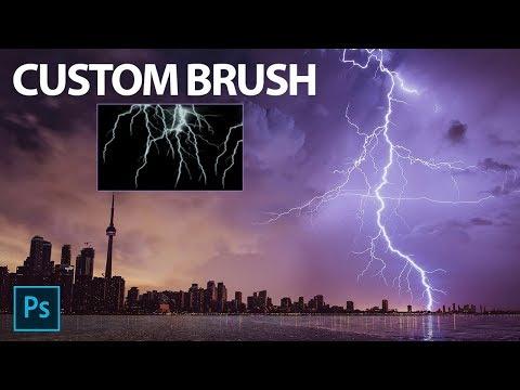 Photoshop Custom Lightning Brush in Hindi | Create Custom Brushes in Photoshop thumbnail
