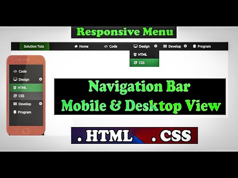 Build a Responsive Navigation Menu Dropdown bar | HTML CSS | Web Design | Menu