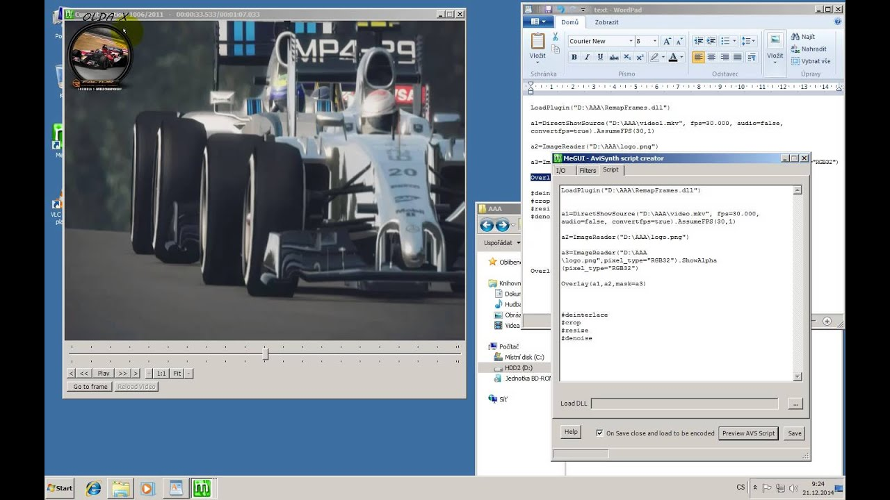 Adding logo to video using MeGUI by OLDA_X