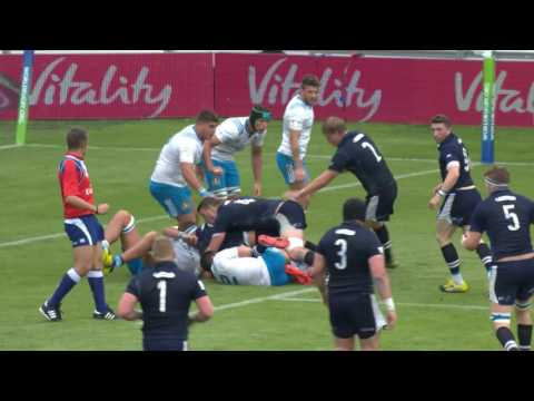 Scotland secure strong win over Italy - U20 Highlights