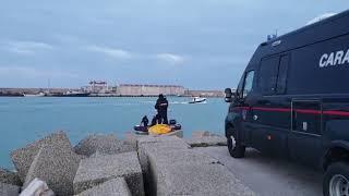 Le ricerche al porto di Termoli