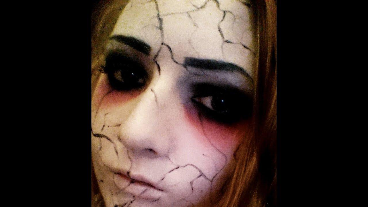 Demonic Doll Makeup Tutorial (Halloween) - YouTube