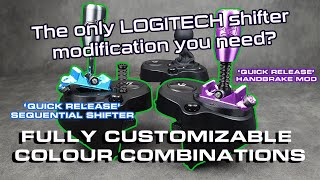 Sequential shifter mod for LOGITECH shifters. G25, G27, G923 etc,. Sequential, Handbrake, H-pat.