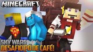 Minecraft: DESAFIO PÓ DE CAFÉ - SKY WARS ‹ AM3NIC ›