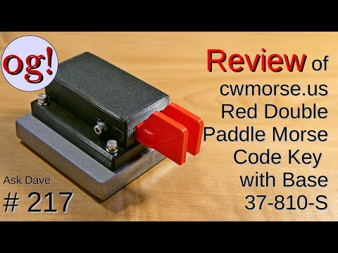 Review Of CW Morse Paddles With Weighted Base (#217)