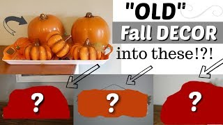 How to Reuse Old Fall Decor | Fall DIY Craft Ideas | KraftsbyKatelyn