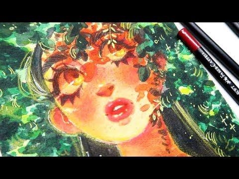 """Sunny Day"" Watercolor  Speedpaint"