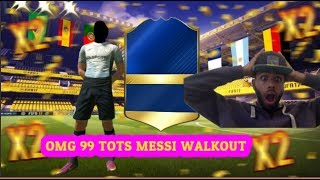 OMG A TOTS IN A GOLD PACK + 99 MESSI WALKOUT | FIFA 17 FUT DRAFT PACK OPENING