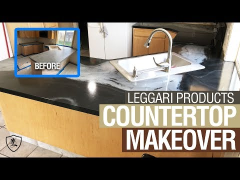 Epoxy Over Formica Countertop Tutorial