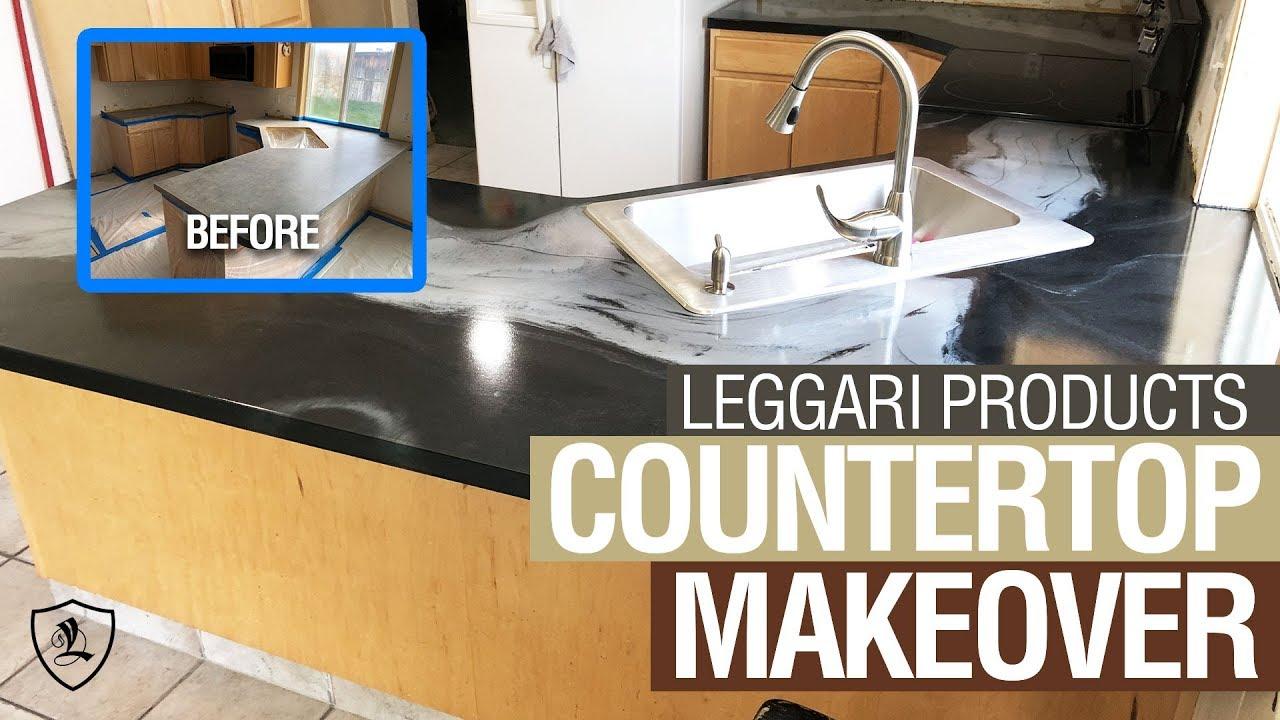 epoxy over formica countertop tutorial