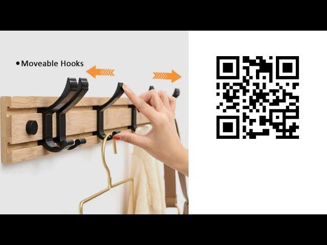 Многофункциональная настенная вешалка с подвижными крючками | настенная вешалка с алиэкспресс