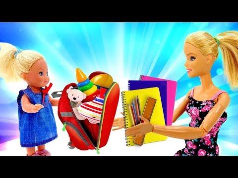 Штеффи собирается в школу - Покупки на 1 сентября - Мультик Барби - Играем в куклы