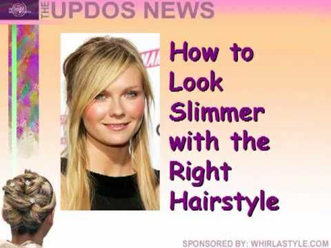 Hairstyles for Round Faces - YouTube