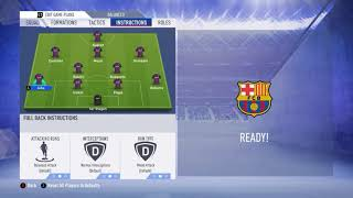 Barcelona fifa 19 team formation , tactics instruction!