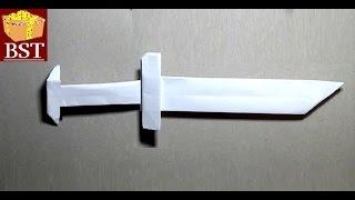 оригами кинжал из 1 листа бумаги А4