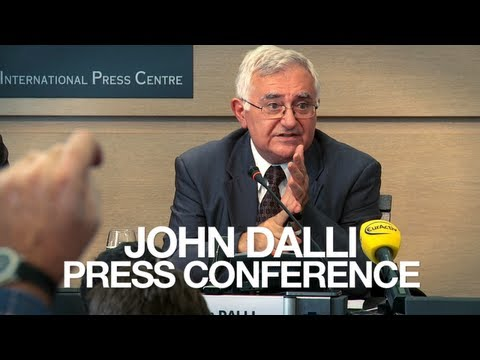John Dalli Snusgate Press Conference FULL - Brussels 24 October 2012