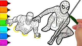 Spider-Man and Iron Man Coloring Pages