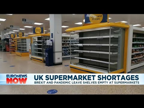 Download Brexit and COVID combine to leave supermarket shelves empty in the UK