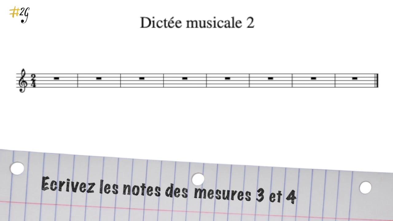 Dictée Musicale débutant 2