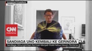 Sandiaga Uno Kembali ke Gerindra