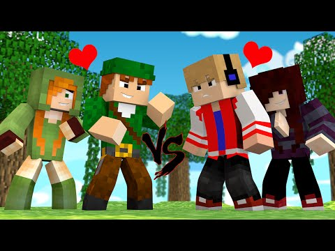 MINECRAFT PE - SKYWARS : BRIGA ENTRE CASAIS ! ? Ft. Cah, JP e Quel (MINECRAFT POCKET EDITION)