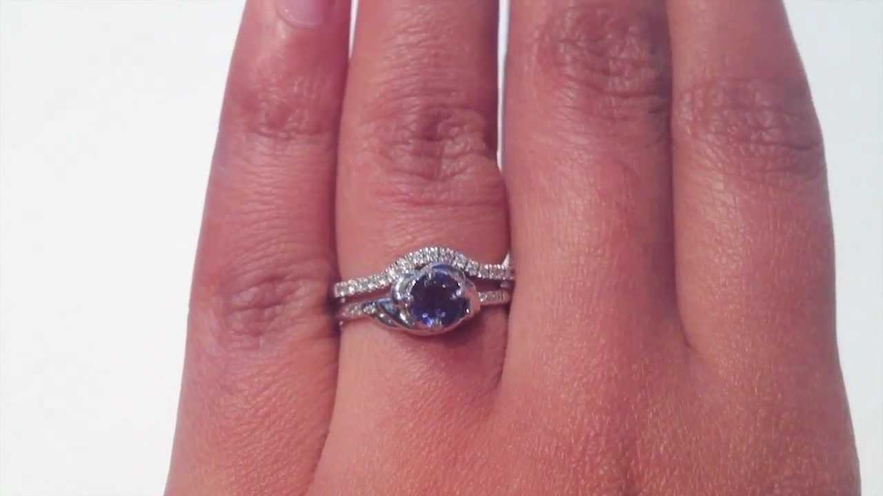 Zoé Iolite & Camille Bridal Set - Unique Engagement Rings - Dana ...